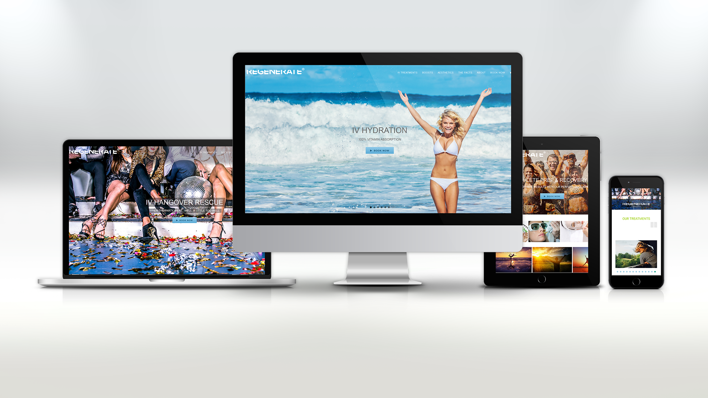 Regenerate-Me Responsive Website / Branding Campaign